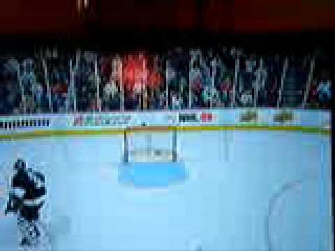Funniest NHL 09 blooper goal