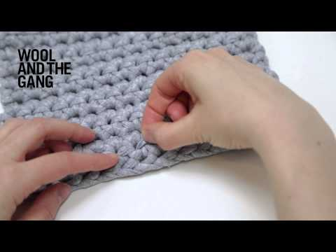 How to make a crochet swatch