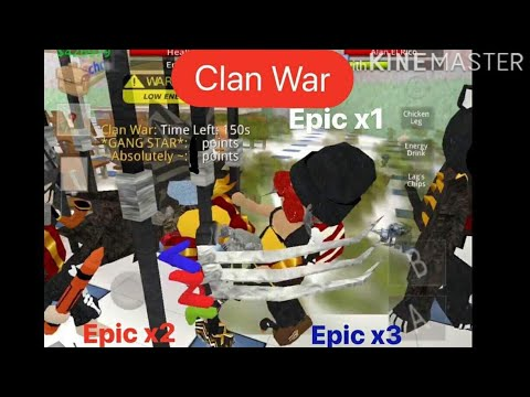 CLAN WAR : # ~Absolutely~ vs #Gang star | Auditorium War | School of Chaos mmorpg online game | soc
