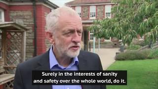 Jeremy Corbyn urges Donald Trump and Kim Jong-un to