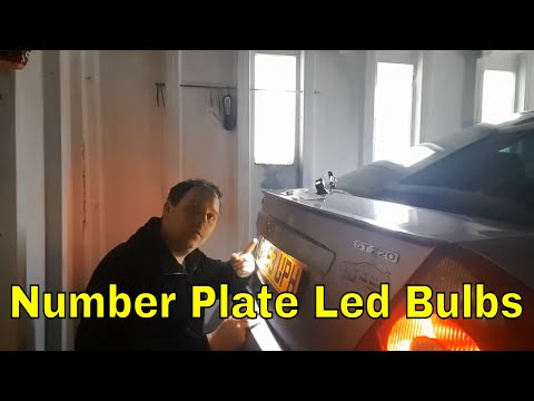 How to upgrade & install number plate LED Ford Mondeo MK3