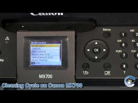 How to do a cleaning cycle/deep cleaning on a Canon Pixma MX700