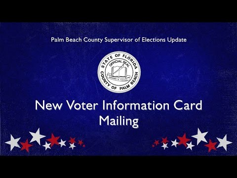 New Palm Beach County Voter Information Card
