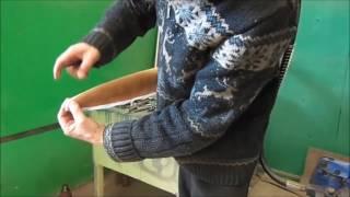 Воздушный винт  Обклейка стеклотканью, подготовка, покраска