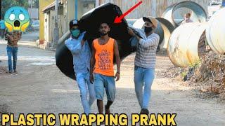 PLASTIC WRAPPING PEOPLE PRANK PART || PRANK IN INDIA || MOUZ PRANK