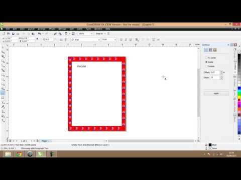 How to Make a charter frames in coreldraw