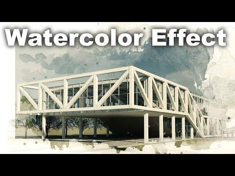 Watercolor Effect Render Postproduciton in PhotoShop Tutroial