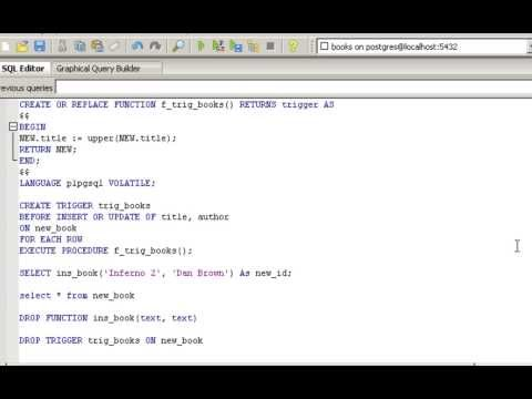PostgreSQL tutorial - functions