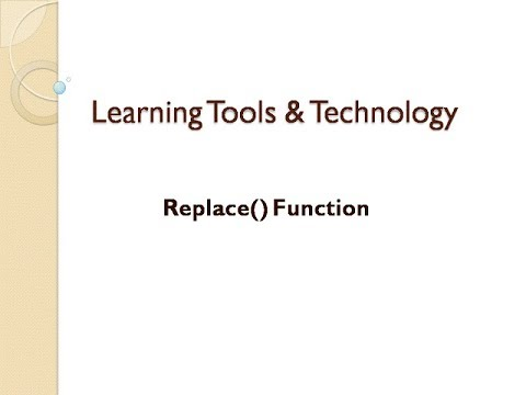 Replace Function In Excel    How to use Repalce Function In Excel