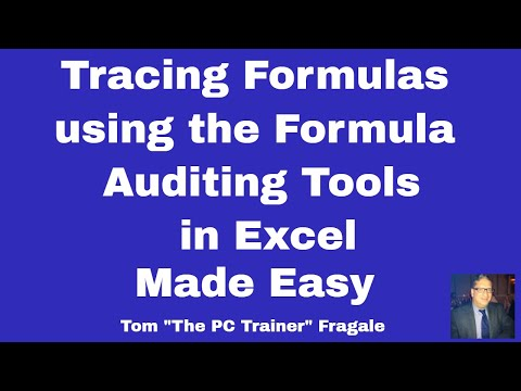 tracing formulas in  excel - How to trace formulas in Excel 2016 2013 2010 formula auditing tools