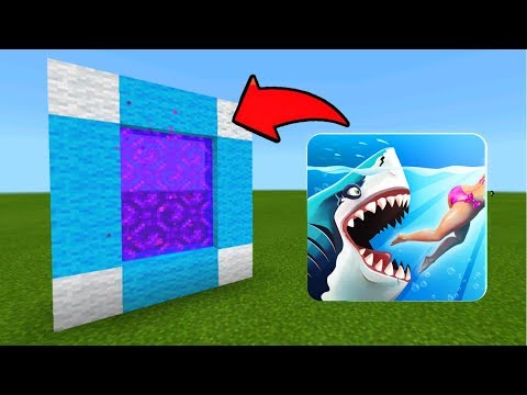 Minecraft Pe How To Make a Portal To The Hungry Shark Dimension - Mcpe Portal To The Hungry Shark!!!
