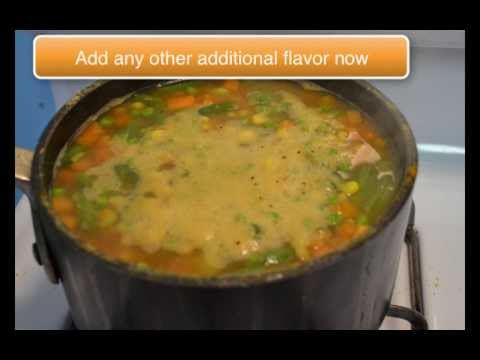 Easy soup made with Frozen Vegetables