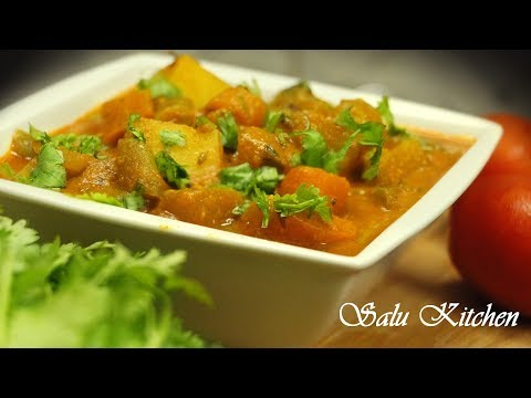 How To Make Vegetable Curry For Chappathi / Appam