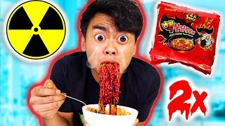 Download NUCLEAR FIRE NOODLE CHALLENGE! 2x! Video