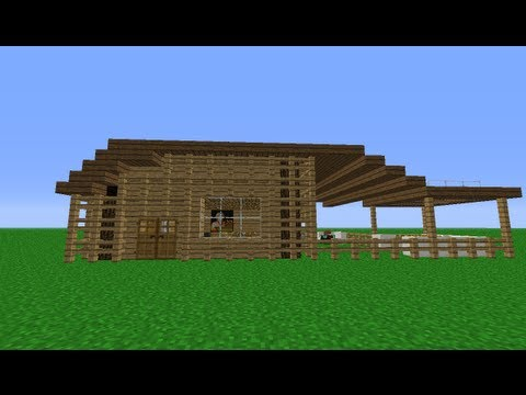 Minecraft How to build a small wooden house
