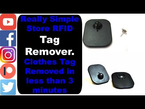 Really Simple Tag Remover. Store RFID Clothes Tag Removed in less than 3 minutes