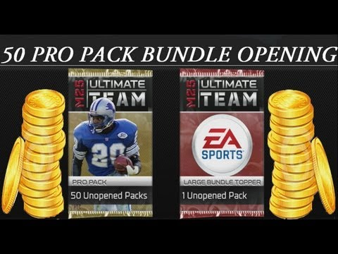 #MUT25 | Madden 25 Ultimate Team 50 Pro Pack Bundle Opening | 50$ Spent Part 1