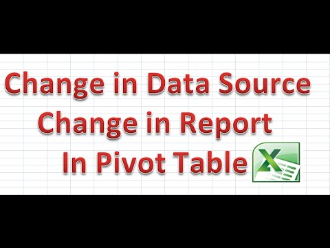 How to Refresh when change in Data Source of Pivot Table