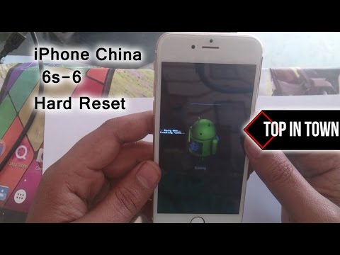 iPhone 6 CLONE HARD RESET 2017