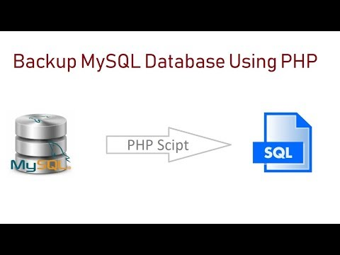 How to Use PHP for Mysql Database Backup