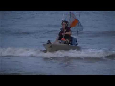 Kayak Fishing For Redfish and Drum in the Gulf of Mexico (Louisiana Beach)