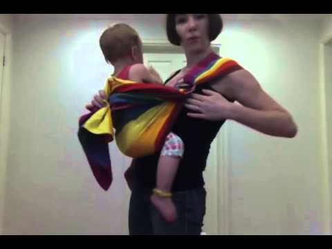 WITH SUBTITLES: how to use your ring sling with your baby/toddler