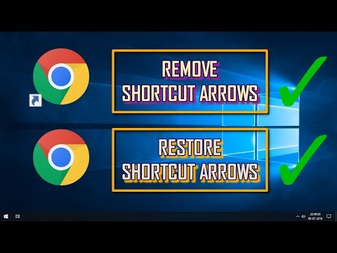 HOW TO REMOVE & RESTORE SHORTCUT ICON ARROWS USING STRING VALUE | WINDOWS 10 TIPS