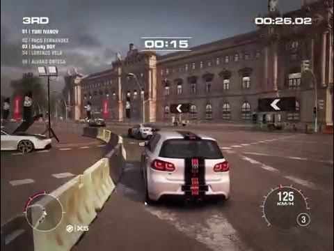 Grid 2 Gameplay racing with the VOLKSWAGEN R