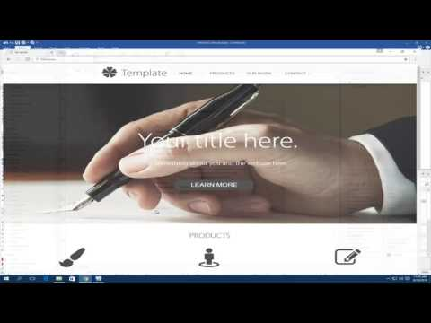 Building A Responsive Template with WYSIWYG Web Builder