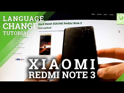 Languages Settings in XIAOMI Redmi Note 3 - How to Change Language