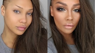 START TO FINISH GLAM BIG EYES CONTOUR HIGHLIGHT | SONJDRADELUXE