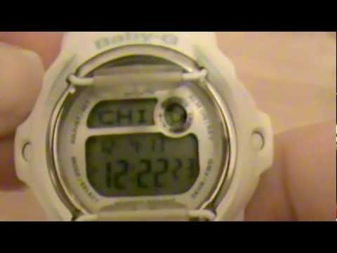 Set time on your Baby G watch