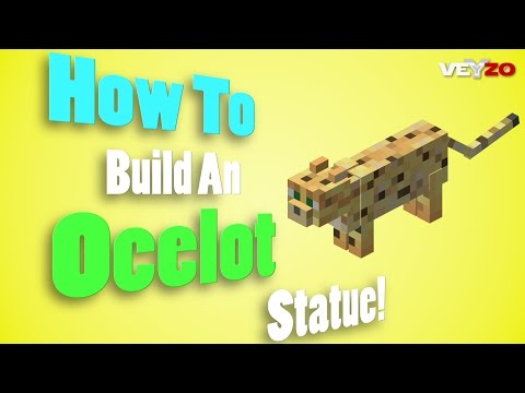 Minecraft - How To Build An Ocelot Statue! (Untamed)