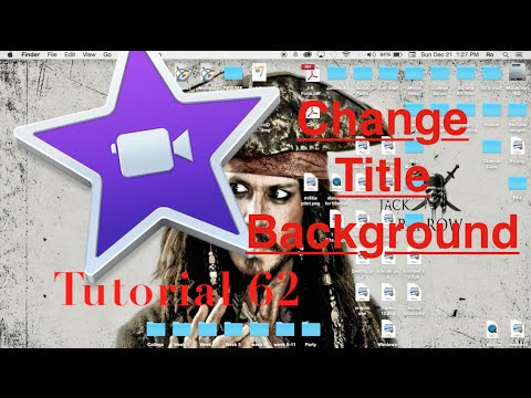 Change Title Background in iMovie 10.0.6 | Tutorial 62