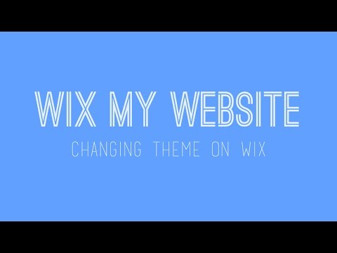 How to change your theme on Wix - Font Theme - Wix Website Tutorial For Beginners