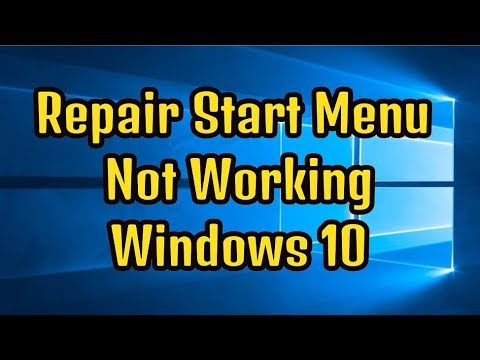How To Repair Start Menu Not Working In Windows 10 | Simple Steps