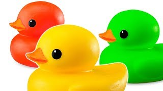 Rubber Ducks at the Swimming Pool - Cartoon Animation Video for Kids Babies