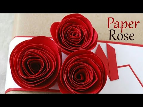 Valentine's day special | How to impress your girlfriend/boyfriend | Paper rose making