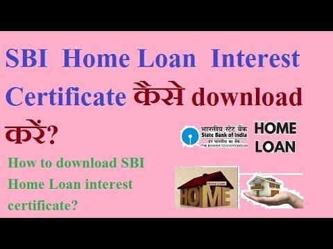 SBI home loan interest certificate download. Interest certificate sbi online.