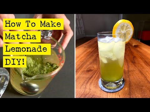 How To Make Matcha Lemonade - Easy, healthy and refreshing!