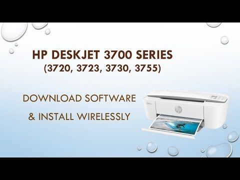 HP Deskjet 3720 3755 3730 3723 Download software install and connect wirelessly