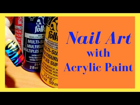 How to use Acrylic Paint on Nails