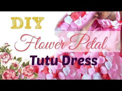DIY Flower Petal Tutu Dress