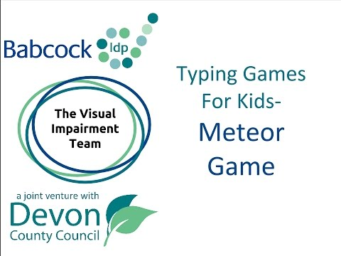 Meteor Game- Fun Touch Typing Game
