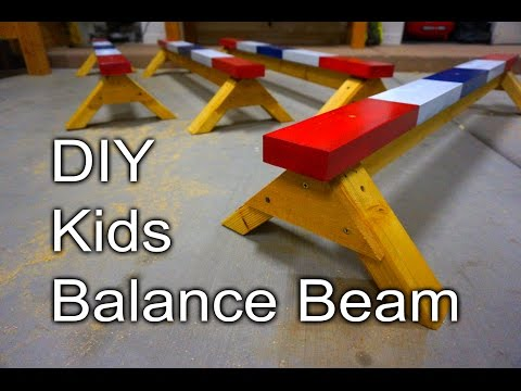 Kids Balance Beam - DIY Christmas Gifts for my Nieces