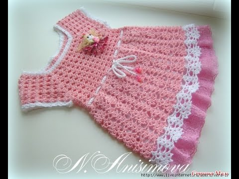 Crochet Baby Dress How To Crochet An Easy Shell Stitch Baby