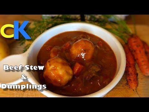 Easy Beef Stew and Dumplings