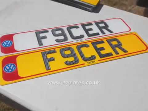 Show Number Plates by EZ Plates including 3D Gel Edge and 3d Carbon Gel & Chrome Font