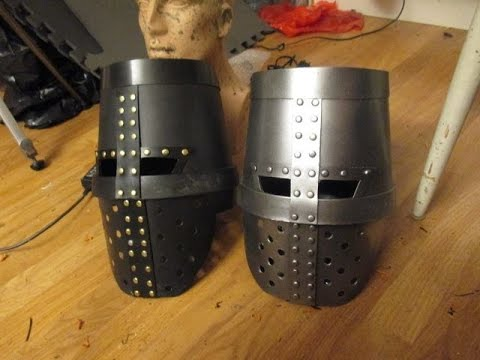 how to make a knight helmet out of a flower pot tutorial