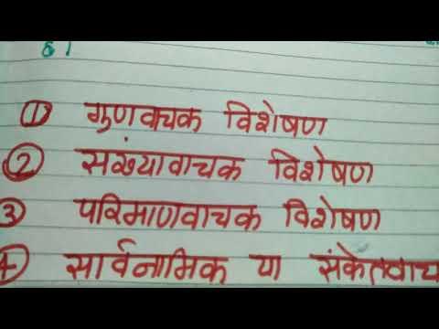 Visheshan Kise kehte hain aur visheshan ke Bhed in accident channel by ritashu